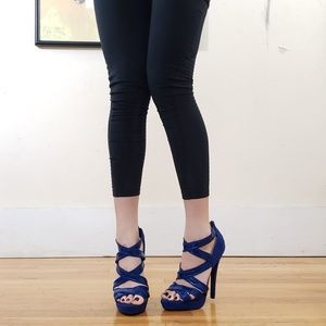 Super High Strappy Party Heels